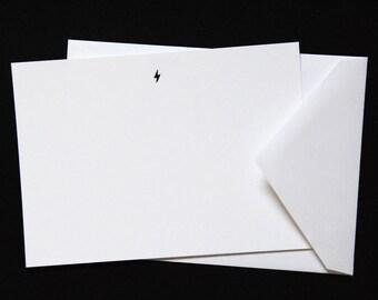 Lightning Bolt Luxe Letterpress Notecard   Celestial Collection   Howl Paper Studio