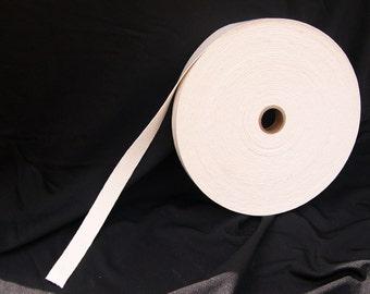 "5 Yard/Meter Cut 3/4"" Braided Elastic - Natural Cotton Elastic # HNWB970-012-000"