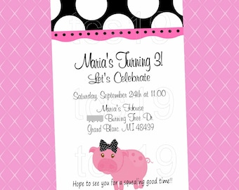 PRINTABLE Invitation - Little Piggie