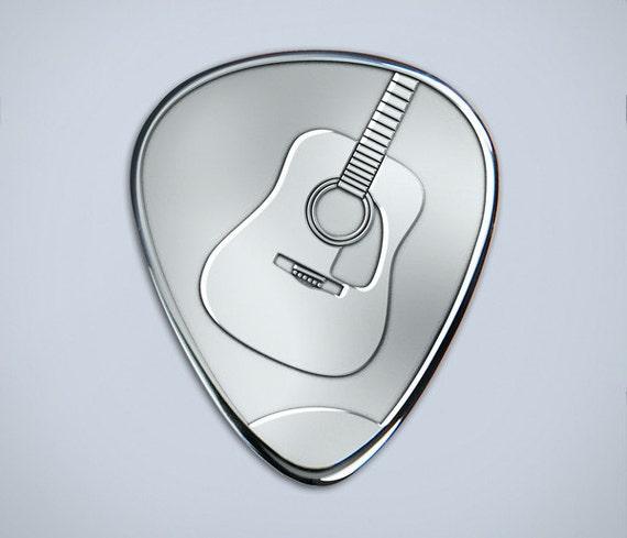 solid silver plectrum guitar pick with acoustic design. Black Bedroom Furniture Sets. Home Design Ideas