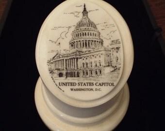 United States Capitol Paperweight Marble John Willis, Historial Memorabilia, Washington DC, Military,