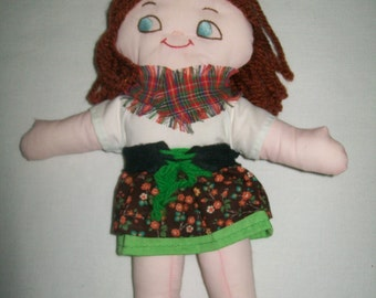 Vintage 1970s Rag Doll or Cloth Dollgreat for play