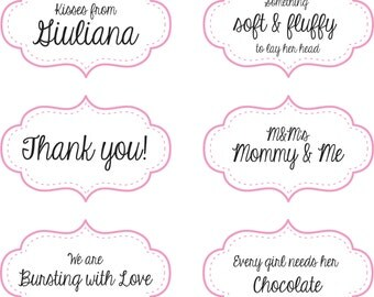 Candy Station Labels