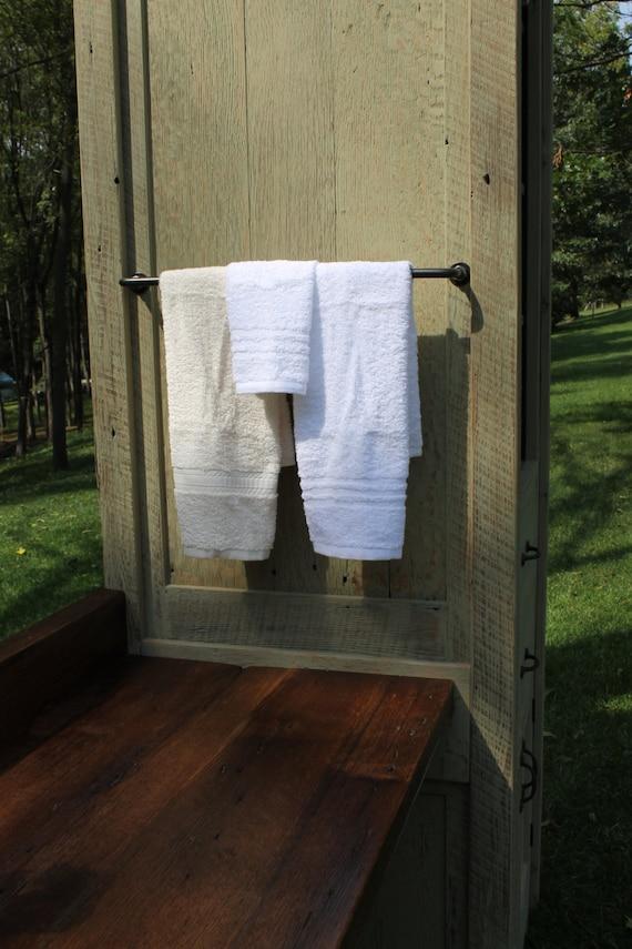 Rustic Linen Cabinet W Make Up Vanity Reclaimed Barn Wood
