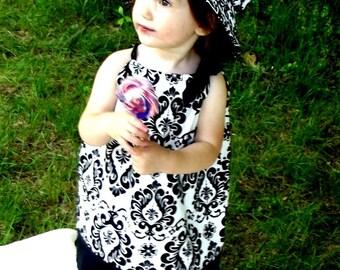 Your Little Girl will be SOOOO Fancy in Her Sweet Damask Dress!!