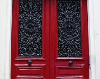Paris photography paris red door red wall art red home decor paris door travel photography red paris door photography red print COME IN!