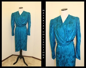 Vintage ARGENTI Blue Silk Dress • Material Collections