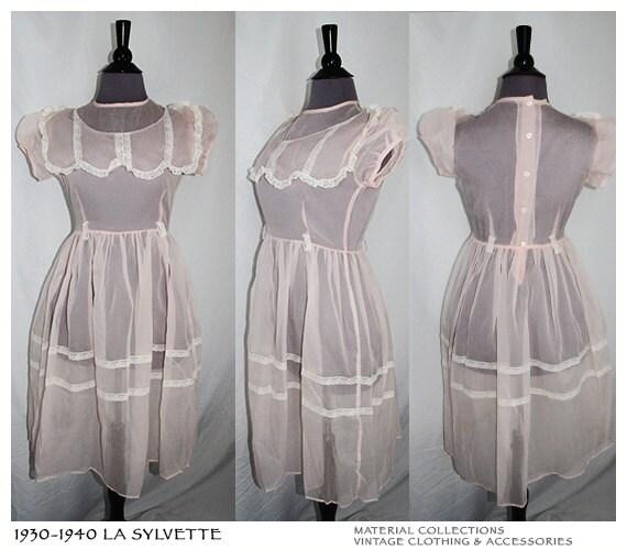 Vtg 30s LA SYLVETTE Dress Material Collections