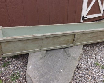 Distressed cedar window box/Wood planter box