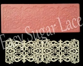 Silicone REGAL CAKE LACE Mat / Mold for Edible Sugar Lace (1 Row, Small) - Free Shipping