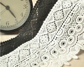 Antique lace trim, white cotton lace ,black Cotton lace Trim solubility lace Lace Trim Floral Lace,Chemical Lace
