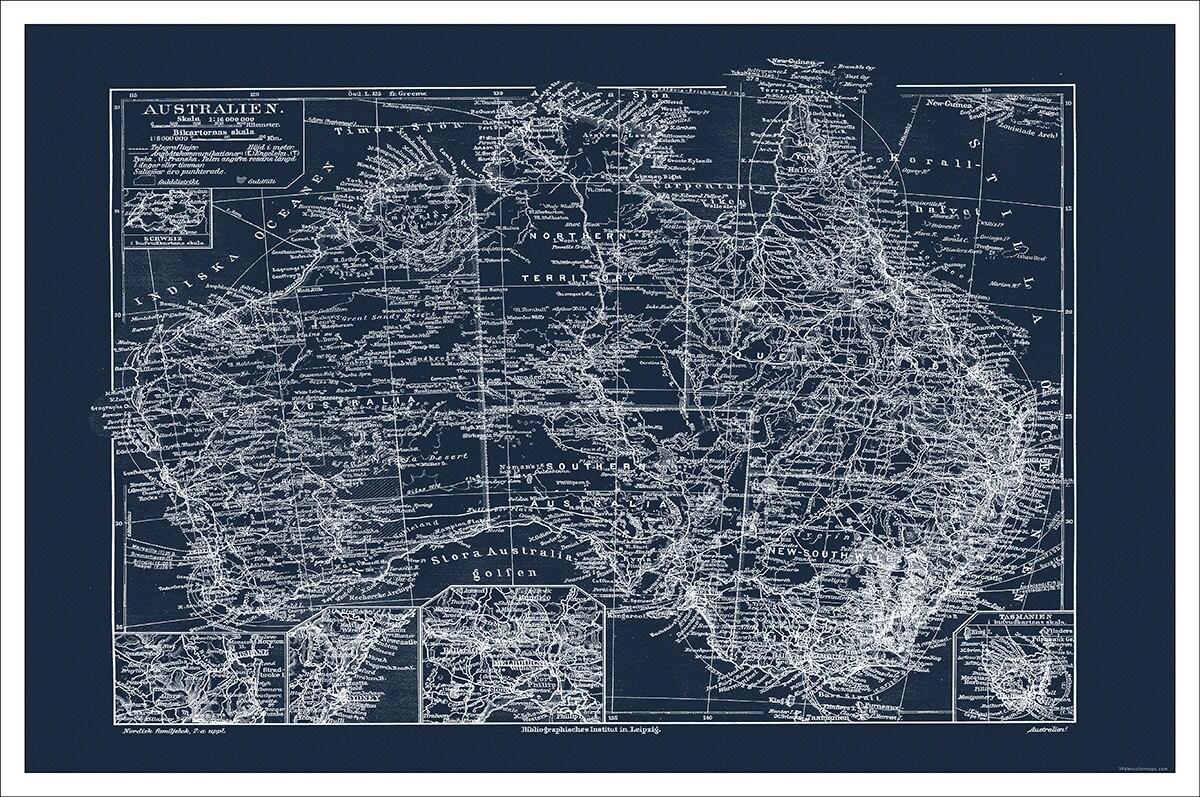 Australia map map of australia sydney perth blueprint map mondomappa malvernweather Image collections