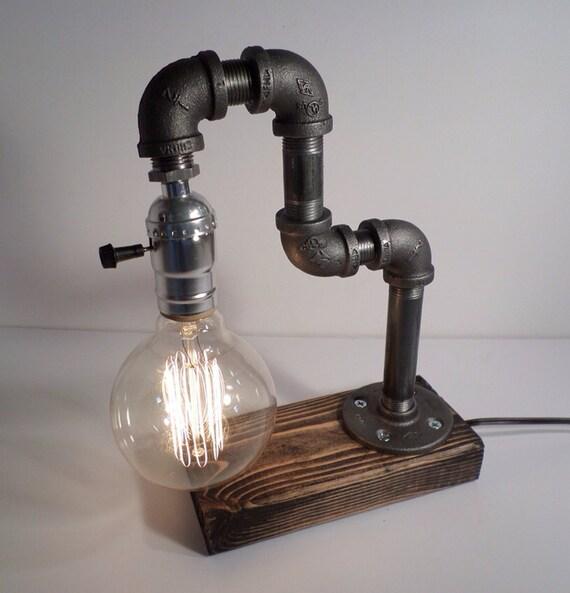 Industrial Lighting Lighting Rustic Light Steampunk: Industrial Lighting Steampunk Lamp Table By