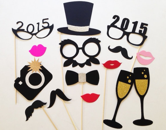 New Year Photo Booth Props New Year Photobooth Props Set of 15