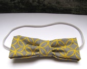 Yellow and Grey (Circle and Diamond Pattern) Bow Tie from Urban Infant