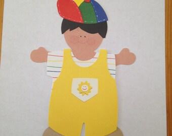 Paper Doll Boy Fun in the Sun