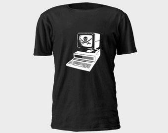 Mens Pirate T-Shirt - Computer Pirate