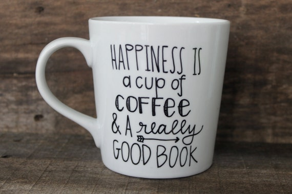 Happiness is ... Book Lovers Coffee Mug