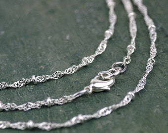 "16.5"" Silver Plated Twisted Maille Chain Silver Necklace Width 2.4mm gcn410 2pcs"