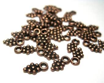 100pcs Antique Copper Small Grape Cluster Charms Pendants