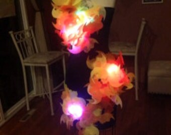 Hunger Games inspired light up girl on fire costume with remote control.