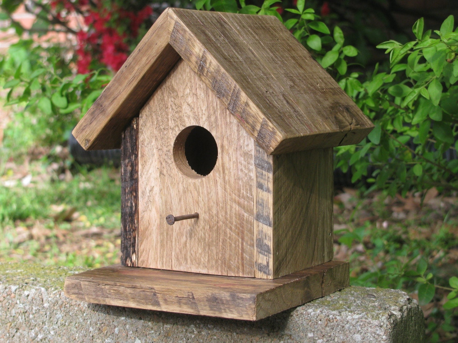Bird house rustic repurposed wooden by