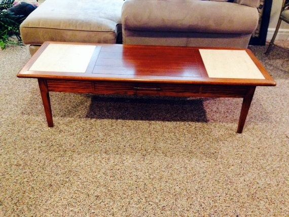 Broyhill Mid Century Modern Coffee Table Bench With Portuguese