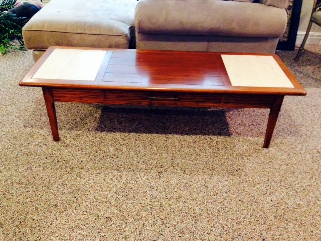 Broyhill Mid Century Modern Coffee TableBench with