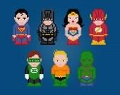 Justice League of America - Digital PDF Cross Stitch Pattern