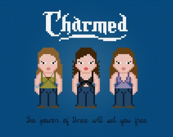 Charmed TV Characters - Digital PDF Cross Stitch Pattern