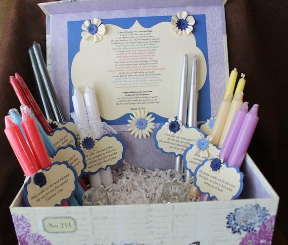 Wedding Gift Of Candles Poem : Candle Poem Gift Set. Bridal candle basket. Sentimental wedding gift ...