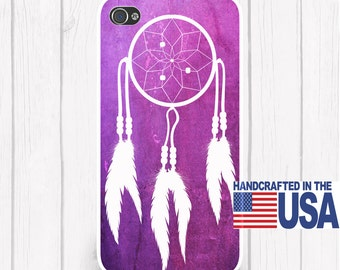 Dream Catcher Personalized Phone Case Vibrant Pink Background  iPhone 5 iPhone 5S iPhone 5C iPod Samsung iPhone 4/4S iPhone 6 iPhone6
