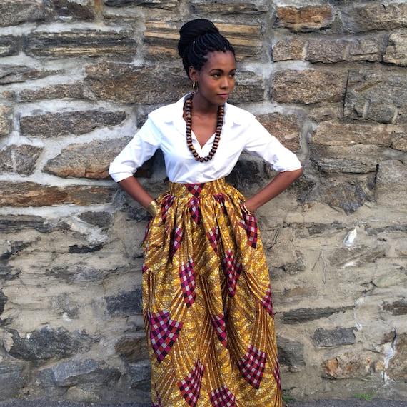 African Print Skirt - Laura Maxi