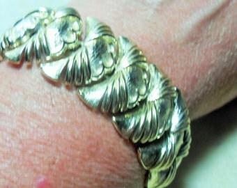 CORO bracelet, statement bracelet, vintage Coro jewelry, vintage signed jewelry, vintage bracelet, designer bracelet, gold tone bracelet