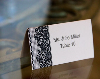 Lace Place Cards, Wedding or Any Event