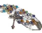 Multi-Colored Chinese & Swarovski Crystal Rosary