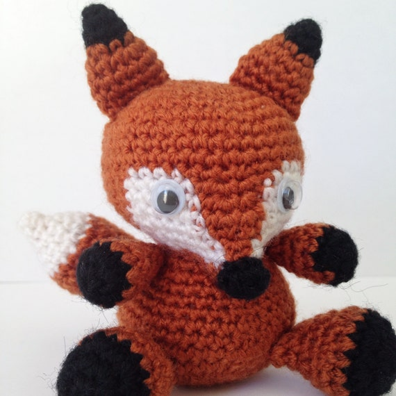 Amigurumi Foxy : FOX Amigurumi Pattern Foxy Red Panda Baby Animal Easy DIY ...