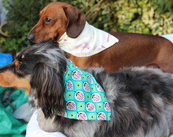 Unique and fabulous doggy scarves and neckerchiefs. All made to order in  unusual not on the high street fabrics.