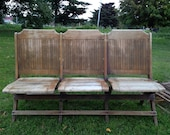 Antique Folding Wooden Benches Local Pickup Only