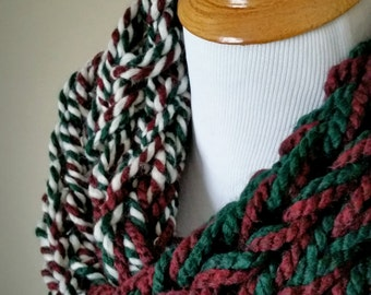 Very Merry Christmas Knit Infinity Scarf