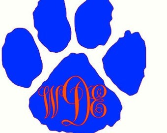 Auburn Monogram Car Decal, Monogram Car Decal, Monogram Decal, Laptop Decal