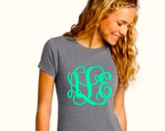 Monogram Shirt, Womens Monogram Shirt, Monogram Tee Shirt