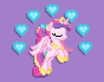 Young Princess Cadance 8-Bit Print