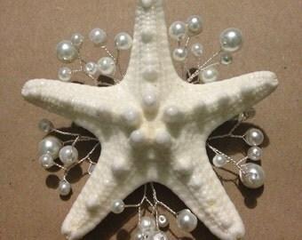 Mermaid starfish barrette