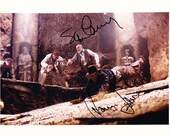 Indiana Jones and the Last Crusade Authentic 8x10 Sean Connery and Harrison Ford Signed Autographed Photo, with COA