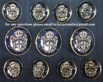 Christian Dior Gold Metal Blazer Buttons Set