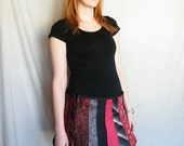 Up-Cycled NECK TIE Skirt, Mini Skirt, tie skirt, silk neck tie, mens tie, chevron tie, golden tie, recycled tie skirt, repurposed ties