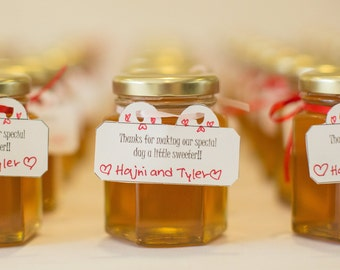 Honey Wedding Favors 48 Jars Large 375 Oz 110ml Hexagon