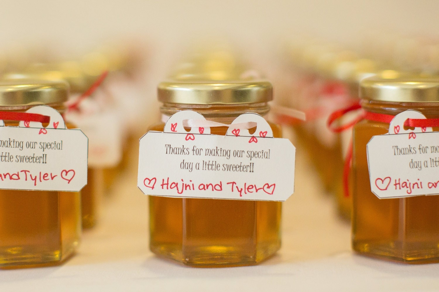 Raw Honey Wedding Favors Large 375 ounce110 ml Case of