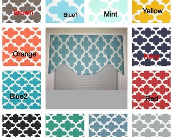 window valance, scallop window valance, decorative valance, window curtain, scallop style